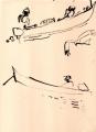 218&#8208;6965&emsp;<b>fishermen & kite</b>&emsp;st louis&emsp;dip pen & indian ink&emsp;38 x 28 cms&emsp;&#8208;Greg&nbsp;Poole