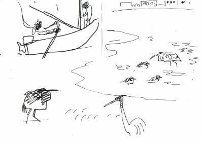 rising tide - egrets, plover & whimbrel