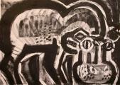 hippo 1 ‐ monoprint ‐ A2 (42 x 59.4 cms) ‐ £120 ‐‐GregPoole