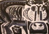 hippo 2 ‐ monoprint ‐ A2 (42 x 59.4 cms) ‐ £120 ‐‐GregPoole
