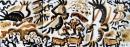 <b>griffon vultures 2</b>    acrylic  27 x 84 cms  £150‐GregPoole