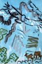 21‐4465<b>griffon vultures 2</b>acrylic27 x 84 cms£150‐GregPoole