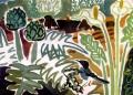 42‐5593<b>crete - sardinian warbler, artichoke, cala lily</b>gouache43 x 58 cms£150‐GregPoole