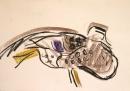 wax crayon <br /> 29.7 x 42 cms (A3) <br /> £60‐GregPoole