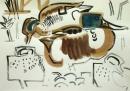 21‐4434<b>shoveler, teal</b>gouacheA3 (29.7 x 42 cms)£60‐GregPoole