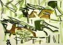 21‐4438<b>shoveler</b>gouacheA3 (29.7 x 42 cms)£80‐GregPoole