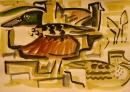 21‐4453<b>teal, shoveler, moorhen & lapwing</b>gouacheA3 (29.7 x 42 cms)£60‐GregPoole