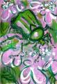 168‐4181<b>rose chafer on viburnum</b>acrylic56 x 38 cms£150&#8208;Greg&nbsp;Poole