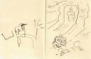 102‐5707<b>little green bee-eater</b>ink pen18 x 28 cmsnot for sale&#8208;Greg&nbsp;Poole
