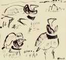 103‐5761<b>little bustard</b>extremadura, spaindip pen & indian ink32 x 32 cms£70‐GregPoole