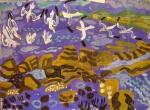 21‐4284<b>gannets, kelp line</b>acrylic56 x 76 cms£150&#8208;Greg&nbsp;Poole