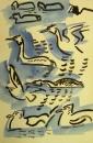 223‐7124<b>gulls, grebes& coot</b>gouache&#8208;Greg&nbsp;Poole