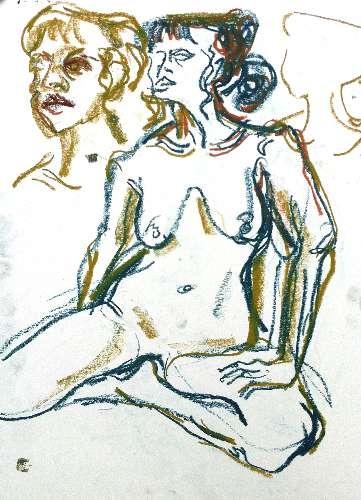 wax crayon <br /> c.A2 - 59.4.x 42 x cms<br />