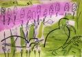 118‐5053<b>coot, grebes & amphibious bistort</b>A3 (29.7 x 42 cms)£180‐GregPoole