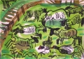 118‐4384<b>sheep moorhen</b>30 x 42 cms£120‐GregPoole