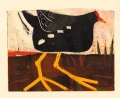 118‐6374<b>moorhen</b>monotype24 x 30 cmsSOLD‐GregPoole