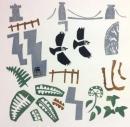101‐5807<b>jackdaws, ferns & ivy, avon gorge</b>50 x 50 cms&#8208;Greg&nbsp;Poole
