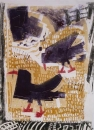 choughs ‐ monoprint ‐ 58 x 42 cms ‐ SOLD‐Greg Poole