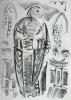 cuckoo ‐ monoprint ‐ 38 x 28 cms ‐ £60 ‐‐GregPoole