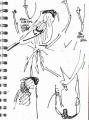 101‐5699<b>bullfinch feeding on ash keys</b>A5 sketchbook&#8208;Greg&nbsp;Poole
