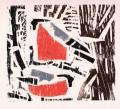 1‐4979<b>bullfinch</b>woodcut26 x 24 cms‐GregPoole