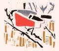 1‐4980<b>bullfinch</b>woodcut26 x 24 cms‐GregPoole