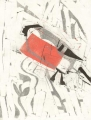 bullfinch ‐ monoprint ‐ 34 x 27 cms ‐ £POA‐GregPoole