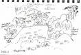 101‐6458<b>wet meadow & goldfinch</b>bristol reservoirsink penA5 sketchbook&#8208;Greg&nbsp;Poole