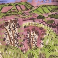 25‐4502 <b>spear thistles gone over, ploughed fields on Dundry</b>   38X38 cms SOLD‐Greg Poole