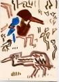 139‐4474<b>white throated kingfisher & pond heron</b>A4 (29.7 x 21cms)£50&#8208;Greg&nbsp;Poole