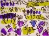<b>larks, flora, harrier</b>    gouache & acrylic  A3 (29.7 x 42 cms)  £110‐GregPoole