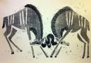 110‐5981<b>kudus sparring</b>Etosha, Namibia59.4 x 84 cms (c.A1)£180‐GregPoole
