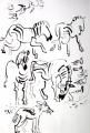 110‐6022<b>zebra, jackal, sandgrouse & namaqua dove</b>Etosha, Namibia56 x 38 cms£220‐GregPoole