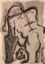 110‐886<b>gorilla studies</b>42 x 30 cms‐GregPoole