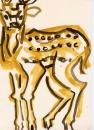 <b>spotted deer</b>    gouache  A4 (29.7 x 21cms)  £50‐GregPoole
