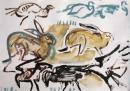 189‐881<b>crows, hares & pheasants</b>39 × 56 cms£80&#8208;Greg&nbsp;Poole