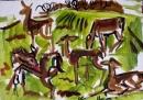 189‐882<b>fallow deer field sketch</b>34 x 50 cms£150&#8208;Greg&nbsp;Poole