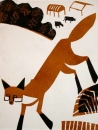 189‐3541<b>fox farmland 1</b>A3 (42 x 29.7 cms)£80&#8208;Greg&nbsp;Poole
