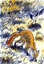 189‐883<b>fox & magpie</b>30 x 21 cms£60&#8208;Greg&nbsp;Poole