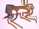 189‐891<b>hares gouache 01</b>A3 (29.7 x 42 cms)£55&#8208;Greg&nbsp;Poole