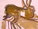189‐892<b>hares gouache 02</b>A3 (29.7 x 42 cms)£55&#8208;Greg&nbsp;Poole