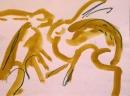 189‐894<b>hares gouache 04</b>A3 (29.7 x 42 cms)£55&#8208;Greg&nbsp;Poole