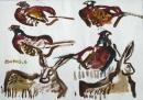 189‐896<b>hares & pheasants</b>39 × 56 cms&#8208;Greg&nbsp;Poole