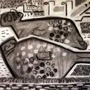 110‐4714<b>mull - seals, gulls & curlew</b>charcoal60 x 60 cms£180&#8208;Greg&nbsp;Poole
