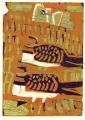 pin-tailed sandgrouse ‐ monotype ‐ 36 x 26 cms ‐ £150‐GregPoole