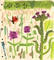 181‐6234<b>burnet moth, damselfly, marsh thistle & betony</b>bristol reservoirsgouache28 x 25 cms£90&#8208;Greg&nbsp;Poole