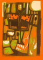 71‐6126 <b>small copper</b> bristol reservoirs relief print 36 x 26 cms £150‐Greg Poole