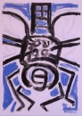 76‐3677 <b>dragonfly monoprint 01</b>   38 x 28 cm £120‐Greg Poole
