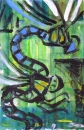 76‐3678 <b>dragonfly monoprint 09</b>   38 x 28 cms £120‐Greg Poole
