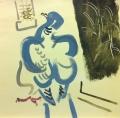 <b>wood pigeon</b>   acrylic  38 x 38 cms &#8208;Greg&nbsp;Poole